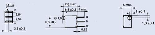 Potencjometr ceramiczny precyzyjny wieloobrotowy,0