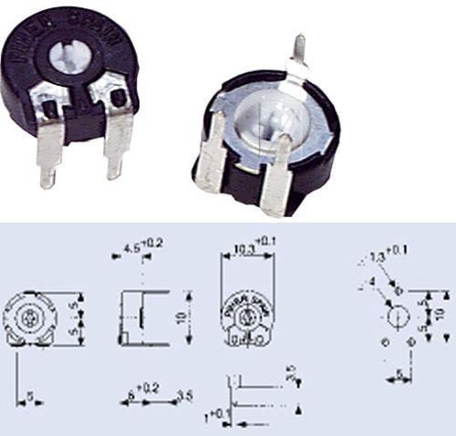 Potencjometr 1,0MPT100,15W,0