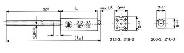 220R   11W   Rezystor drutowy ceramiczna 220R-11W,0