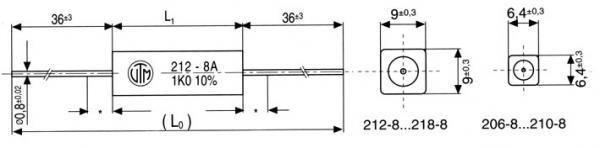 8.2R | 5W | Rezystor drutowy ceramiczna 8,2K-5W,0