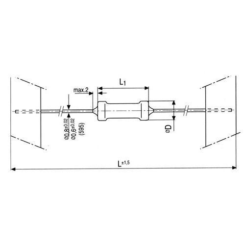 10M   2W   Rezystor metalizowany 0414,0