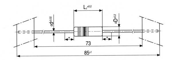 2.2R | 0.75W | Rezystor bezpiecznikowy,0