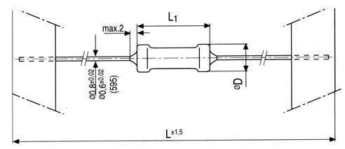 6.8R | 2W | Rezystor metalizowany 0414,0