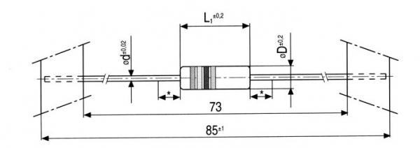 270R | 0.75W | Rezystor bezpiecznikowy,0