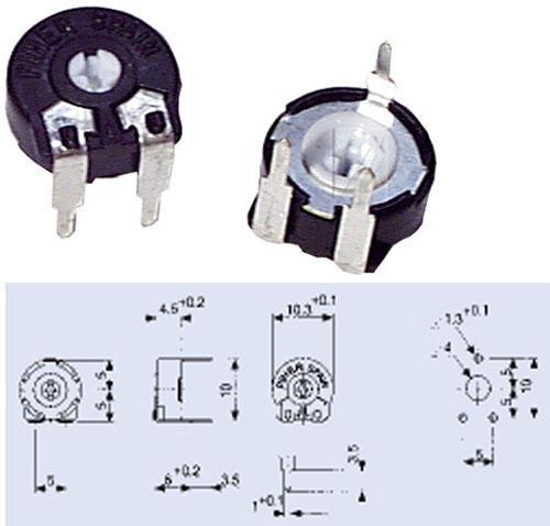 50RPT100,15W potencjometr leżący 5x10mm -piher-,0