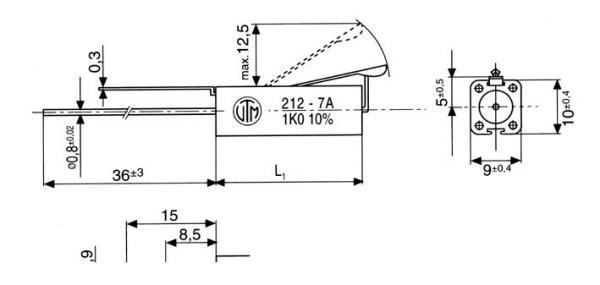 1.2K | 10W | Rezystor drutowy ceramiczna 1,2K-10W,0