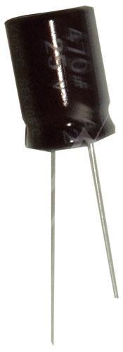 470uF | 25V Kondensator elektrolityczny 105°C 16mm/10mm,0