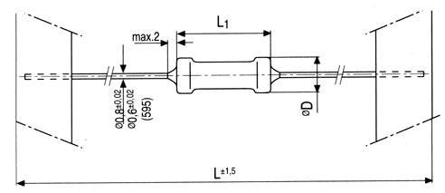 0.22R | 2W | Rezystor metalizowany 0414,0