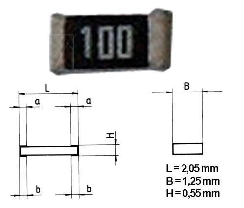 0.125W   Rezystor SMD,0