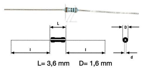 1R | 0.4W | Rezystor metalizowany 0204,0