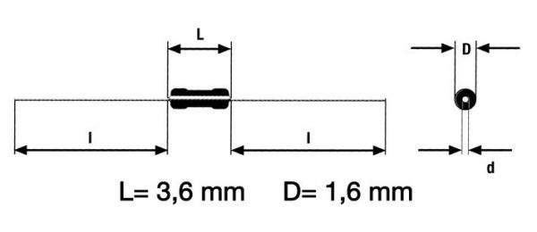 22R | 0.4W | Rezystor metalizowany 0204,0