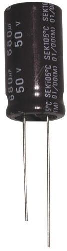 680uF | 50V Kondensator elektrolityczny 105°C 26mm/13mm,0