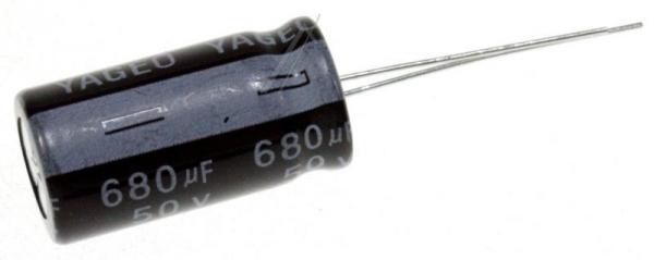680uF | 50V Kondensator elektrolityczny 105°C 26mm/13mm,1
