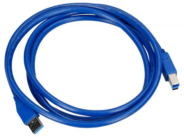 Kabel 2m USB A - USB B (wtyk/ wtyk) standard,0