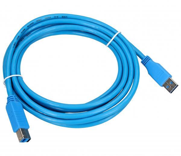 Kabel 3m USB A - USB B (wtyk/ wtyk) standard,0