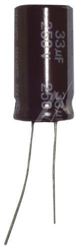 33uF | 250V Kondensator elektrolityczny 105°C 25mm/13mm,0