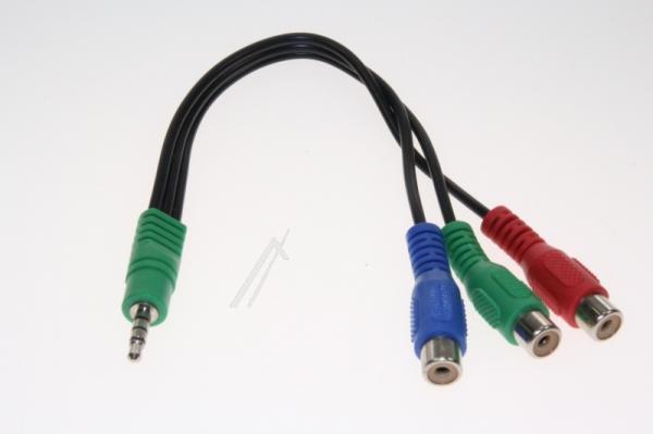 Kabel 15cm JACK 3.5mm 4 pin - CINCH (wtyk/ gniazdo x3) 30069701,0