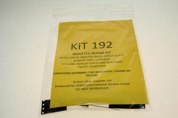 KIT192 zestaw naprawczy przetwornicy do toshiba,0