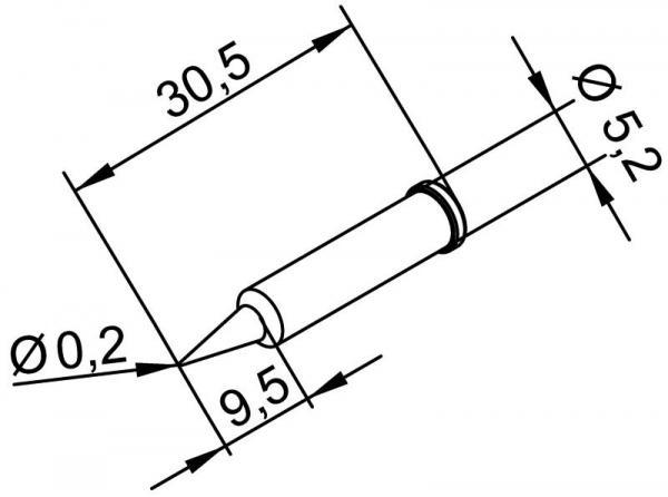 Grot 0.2mm do lutownicy 0102PDLF02SB Ersa,0