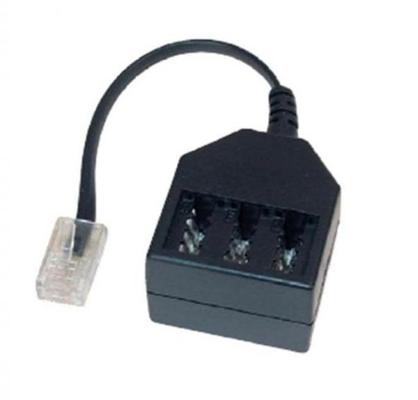 Kabel RJ-11 - TAE (wtyk/ gniazdo x3),0