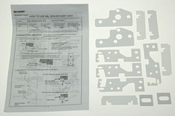 Podkładka zawiasu do lodówki CSOGE127CBKZ,0