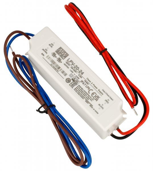 LPV2024 24V20W TRANSFORMATOR FÜR STANDARD-LED 90-264V/AC/24VDC MEAN WELL,0