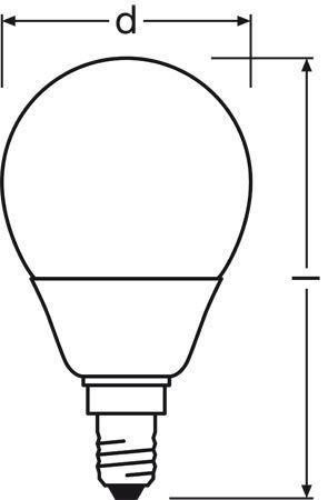 Żarówka | Świetlówka energooszczędna E14 9W Osram duluxstar mini bullet (biały ciepły),0