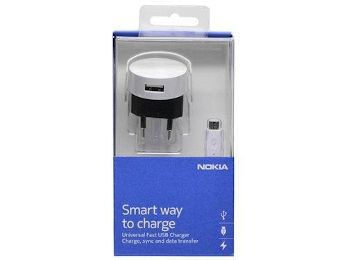 Ładowarka sieciowa USB + kabel micro USB B do smartfona Nokia,0
