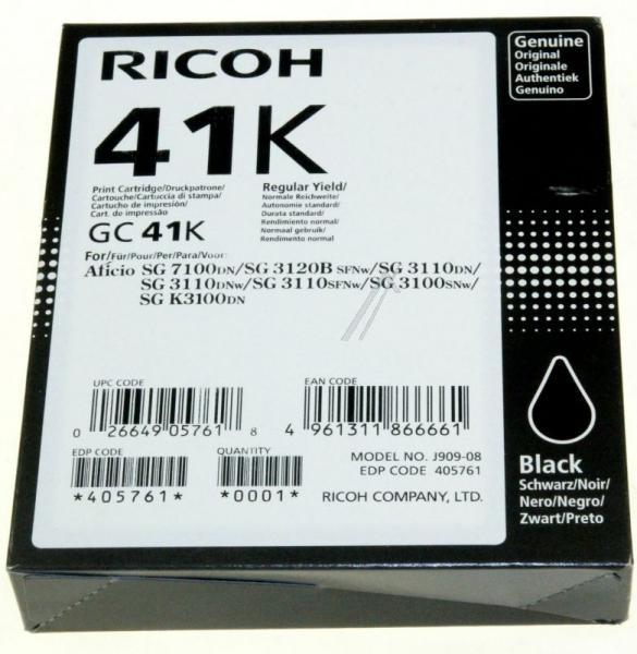 405761 GC41K TINTENPATRONE, SCHWARZ, 2,5K RICOH,0