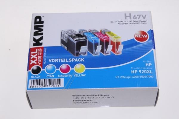 Multipack   Zestaw tuszy BK,C,M,Y do drukarki  H67V,0
