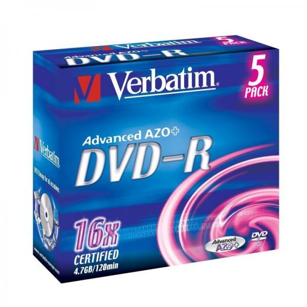 Płyta DVD-R 5szt. Verbatim 43519,0