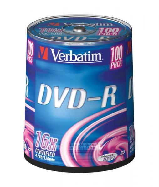 Płyta DVD-R 100szt. Verbatim 43549,0