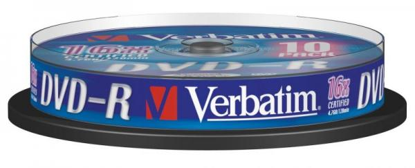 Płyta DVD-R 10szt. Verbatim 43523,0