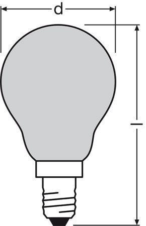 DECORPGREEN11 240v-11w żarówka zielona OSRAM,1