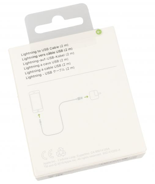 Kabel APPLE 2m USB A - Lightning (wtyk/ wtyk) MD819ZMA,1
