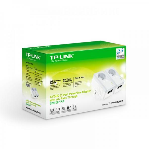 Transmiter | Adapter Powerline zestaw TP-Link TLPA4020PKIT,1