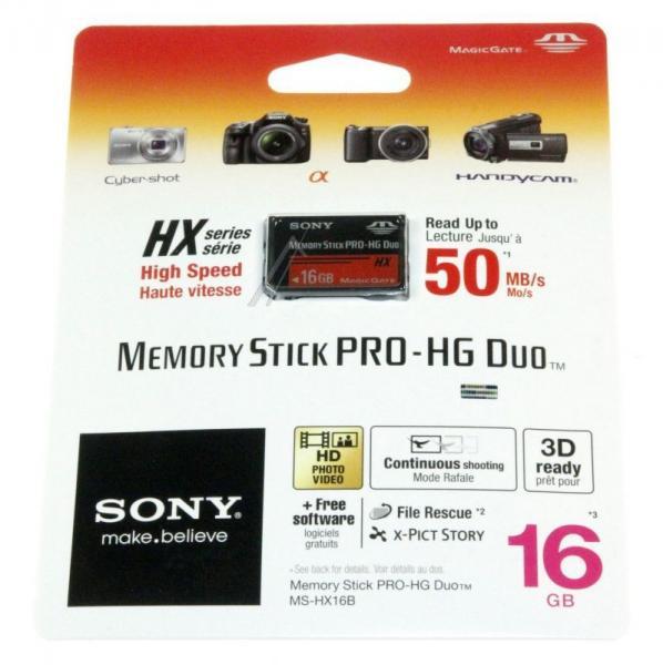 MSHX16B MEMORYSTICKPROHGDUO SONY MEMORYSTICK  16GB SONY,0