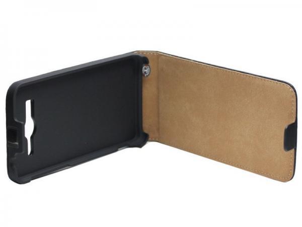 Pokrowiec   Etui gelly Flip Case do smartfona Huawei Ascend G525 (czarne),1