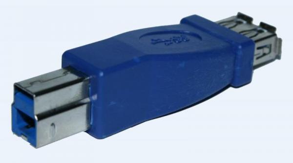 Adapter USB A 3.0 - USB B 3.0 (gniazdo/ wtyk),0