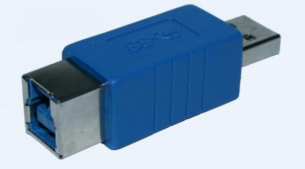 Adapter USB A 3.0 - USB B 3.0 (wtyk/ gniazdo),0