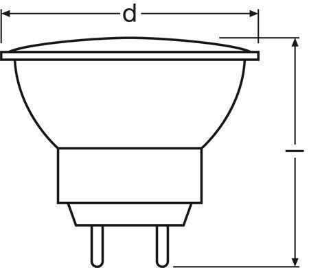 44892WFL GU4 12v-35w lampa halogenowa z reflektorem OSRAM,1