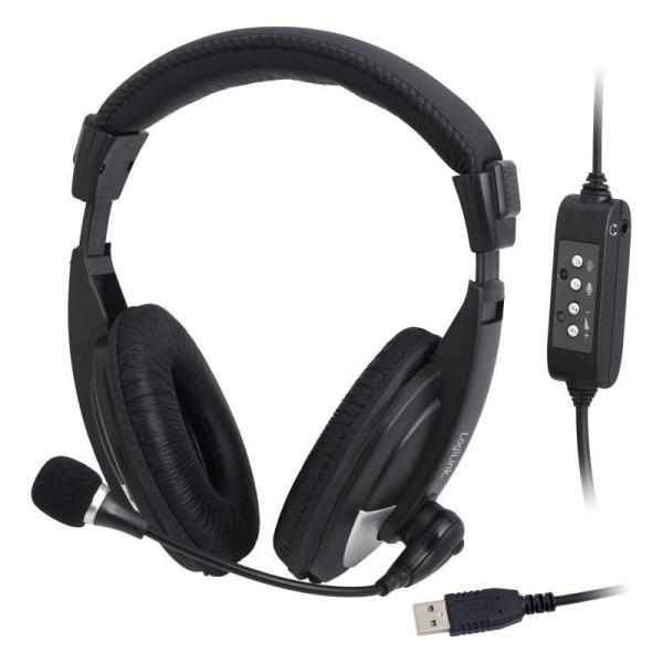 Słuchawki | Zestaw słuchawkowy na USB Logilink HS0019,0