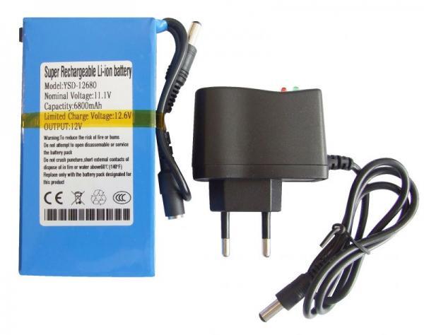 YSD12680 DC168 AKKUPACK 12VDC/6800MAH, INKL. LADEGERÄT,0