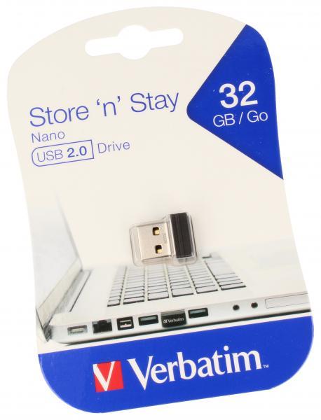 Pendrive | Pamięć USB 2.0 32GB `n` Stay NANO Verbatim 98130,0