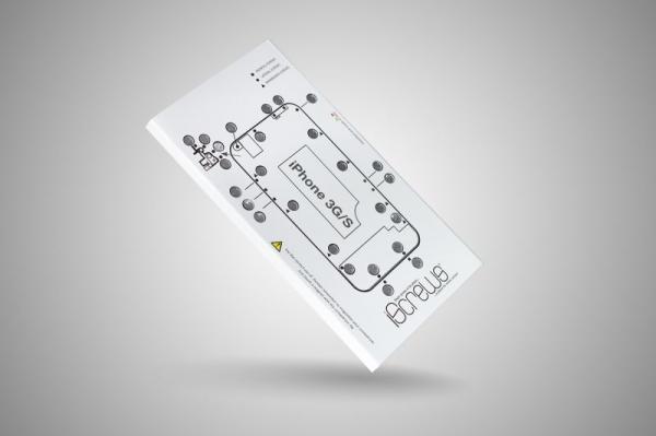 Szablon na śrubki iScrews do smartfona iPhone 3GS,1