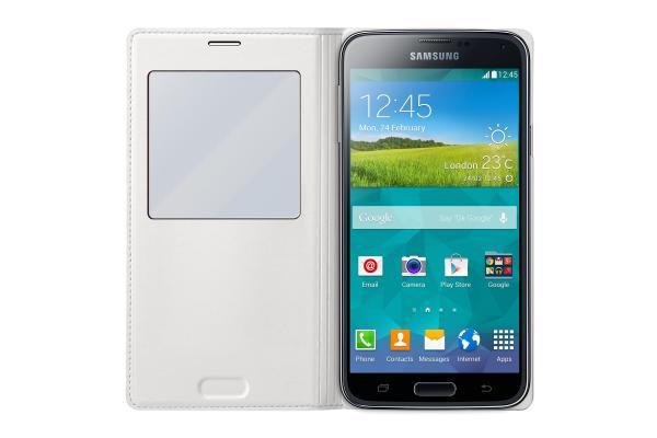 Pokrowiec | Etui S View do smartfona Samsung Galaxy S5 EFCG900BWEGWW (białe),2