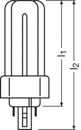 DULUXTE26W830PLUS KOMPAKTLEUCHTSTOFFLAMPE, GX24Q-3, 26 W, OSRAM,1