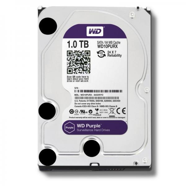 """Dysk HDD 1TB 3,5"""" WD10PURX,1"""