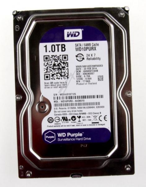 """Dysk HDD 1TB 3,5"""" WD10PURX,2"""