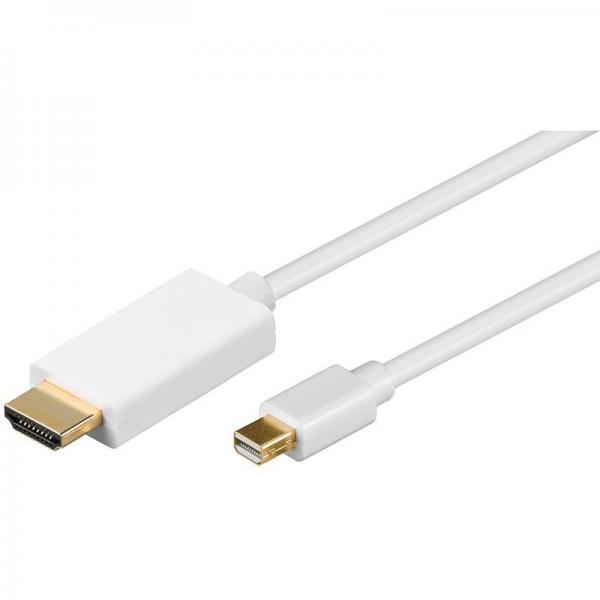 Kabel 1m DISPLAYPORT mini - HDMI (wtyk/ wtyk),0